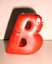 FIGURINE LETTRE ALPHABET BARBAPAPA PVC  - B ROUGE (4x3,5cm)