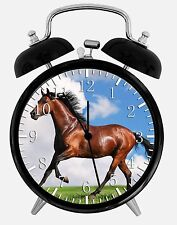 "Beautiful Horse Alarm Desk Clock 3.75"" Home or Office Decor E425 Nice For Gift"