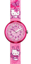 "FLIK FLAK KINDERUHR ""HELLO KITTY BUTTERFLY"" (ZFLNP005) NEUWARE"