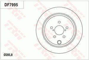TRW Brake Rotor Rear DF7995S fits Subaru Forester 2.5 AWD (SH)