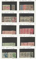 French Colonies Old Dealers Used Stock on Cards, Nice Lot For Cancels