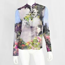 New XS Alice + Olivia  Dreamscape Women's Top MSRP $330 Novelty Print