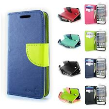For ALCATEL One Touch Pixi Charm Wallet Case Phone Cover + Screen Protector