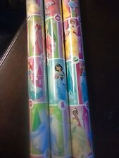 Disney Princess & Castle GIFT WRAP WRAPPING PAPER ROLL CHRISTMAS 60 SQ. FT