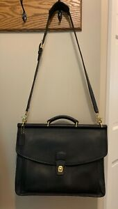 Authentic COACH black Leather Beekman Briefcase (Unisex)