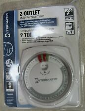 Intermatic 2-Outlet Multi-Purpose Timer TN800CL Variable On Off Times