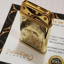 More details for 24ct gold plated camel cigarette petrol cigar lighter vintage style 24k