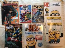 Lot of 8 Coloring / Activity / Sticker books. Minions Superheroes Marvel Disney