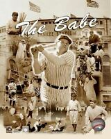 BABE RUTH New York Yankees LICENSED Composite picture poster print 8x10 photo