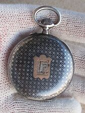 Pocket 0.800 Silver&Gold Art Deco 48mm Vintage Longines Grand Prix Paris 1889