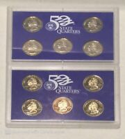 2002 & 2003 USA Mint Proof State Quarters Coins Encapsulated