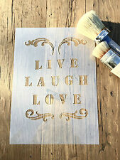 Live Laugh Love Stencil, Wedding Stencil, Quotes Stencil, Wall Art Stencil