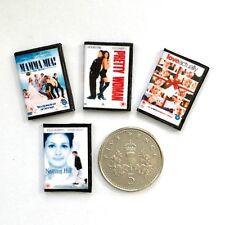 4 casa de muñecas en miniatura Dvd Pretty Woman Mamma Mia! Notting Hill Amor realmente