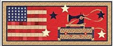American Quilter Table Runner QUILT KIT Quilt Pattern + Moda Patriotic Fabric ++