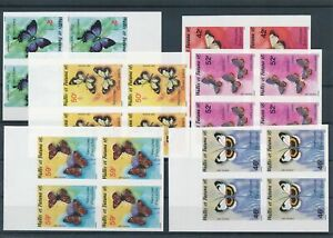 [G390786] Wallis Fut 1987 butterfly good set VF blocks of 4 MNH imperf. Stamps