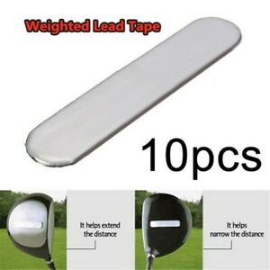 10 Pcs/pack Golf Club Lead Tape Strips to Add Swing Weight for Golf Club Tennis