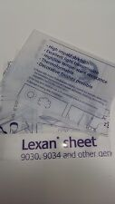 5 Pack 1 mm A3 Clear Polycarbonate Sheet  420 mm X 297 mm Single side UV