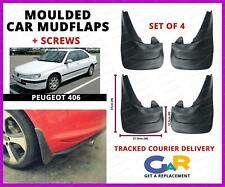 Rubbert Car Mud Flaps Splash guards set of 4 front and rear for Peugeot 406
