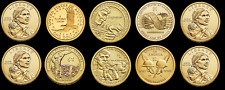 "Lot of 10 Random Years ""Imperfect Uncirculated"" Sacagawea Dollar US Coins"