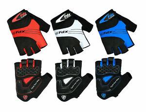 FDX Cycling gloves Fingerless Half Finger Gloves Bike Riding Mitts Gloves