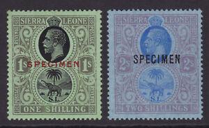 Sierra Leone. 1925. SG 143s & 144s, 1/- & 2/-, specimens. Mounted mint,