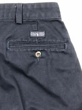 Ralph Lauren Polo Chino Mens Pants Pleated Tag Size 35x30 Actual 33x29 Navy Blue