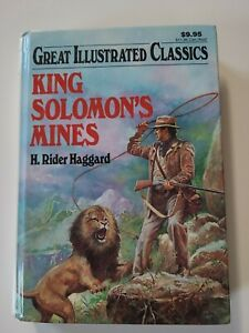 Great Illustrated Classics: King Solomon's Mines By H Rider Haggard 1997 VGUC