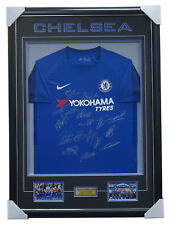 Chelsea Signed 2017/18 Team Signed Jersey Framed - 2018 FA Cup Champions Hazard