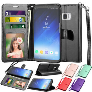 For Samsung Galaxy S9/S7/S8/S10 Plus Leather Wallet Case Flip Card Holder Cover