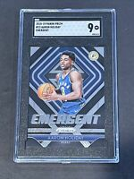 2018 Panini Prizm Emergent SGC 9 Aaron Holiday RC Low POP Rookie PSA ?
