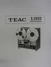 TEAC A-3300 / A-3340 TAPE DECK SERVICE MANUAL 103  Pages