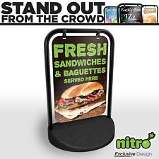More details for fresh sandwiches & baguettes served here swinging pavement take away shop sign