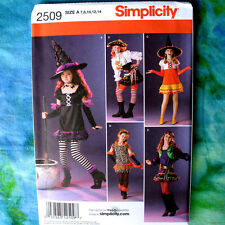 Simplicity 2509 Witch Pirate 5 Looks Costume SEWING Pattern 7-14