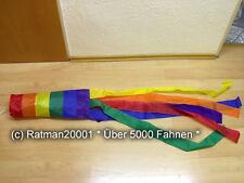 Fahnen Flagge Windsack Regenbogen - 13,5 x 145 cm