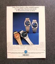 [GCG] I798 - Advertising Pubblicità -1979- SEIKO TWIN QUARTZ