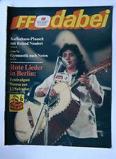 DDR Fernsehzeitschrift FF Dabei RARITÄT 08/1987 TOP !!