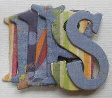 Fancy Pants *BEACH BUM* Scrapbook Chipboard Letters Alphabet