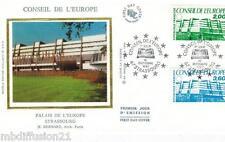 1987**ENVELOPPE SOIE**FDC 1°JOUR!!**CONSEIL DE L'EUROPE**TIMBRE Y/T 96-97