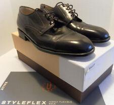 BALLY SHOES VTG Cap Toe ROGERS NAPPA Brown Style Flex New/Box