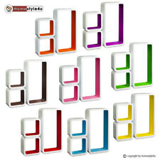 Cube design rétro mur étagère CD rack coloré bibliothèque cube