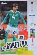 LEON GORETZKA - A3 Poster (42 x 28 cm) - Fußball WM 2018 Clippings Sammlung NEU