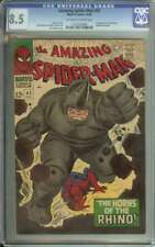 AMAZING SPIDER-MAN #41 CGC 8.5 OW/WH PAGES // 1ST APPEARANCE OF THE RHINO 1966