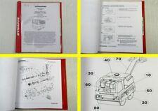 Dynapac LP6500 Duplexwalze Betriebsanleitung Bedienung Ersatzteilliste 2002
