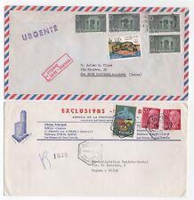 1970's SPAIN - 2 x Air Mail Covers MADRID & LAS PALMAS to LUGANO SWITZERLAND