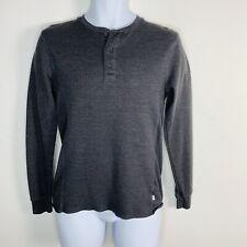 Levi Strauss & Co Mens Top Sz S Charcoal Gray Henley Long Sleeve Casual Iz30