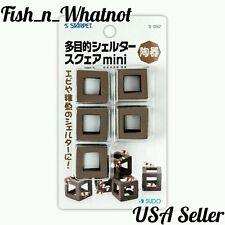 SUDO 5pc Aquarium Shrimp Hiding Breeding Cave Ceramic Cubes Blocks -USA Seller-