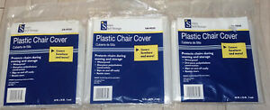 """3 x 2-Pack Plastic Chair Covers Size up to 46"""" x 76"""" SIMPLY SELF STORAGE OB-9050"""