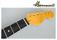 Stratocaster Roasted Canadian Maple Neck with Ebony Maple Fretboard, 22 Frets