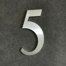 Zahl 5 Metall Edelstahl Zahlen Hausnummern Schilderbeschriftung Schriftzüge 6cm