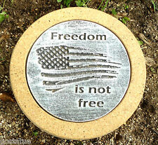 "Freedom military stepping stone mold concrete plaster mould 10"" x 1.5"""